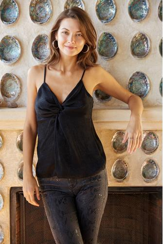 Knot Front Cami BLACK