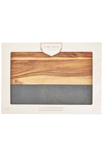Wood With Slate Cheese Board BROWN