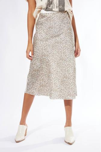 Sage Leopard Midi Skirt MULTI