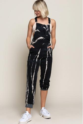 Galaxy Tie Dye Knit Overall BLACK-MULTI--