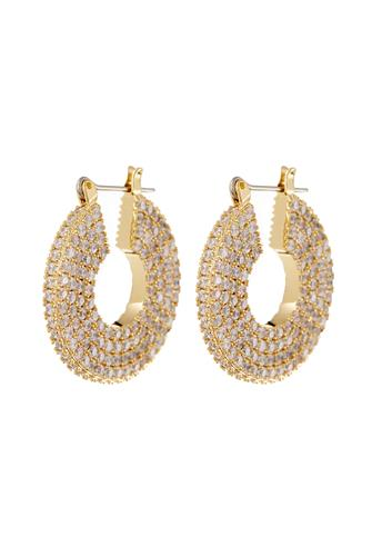Gold Pave Stefano Hoop Earrings GOLD