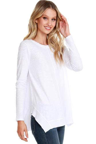 Side Slit Tunic WHITE
