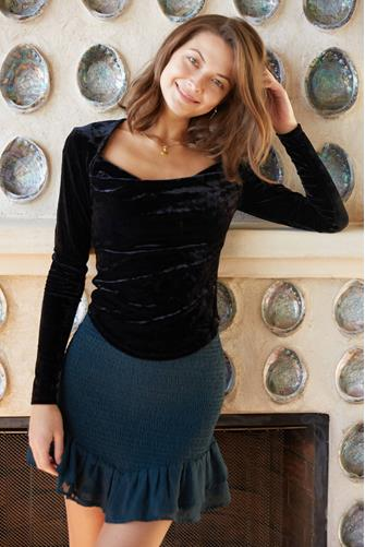Perfect Date Top BLACK
