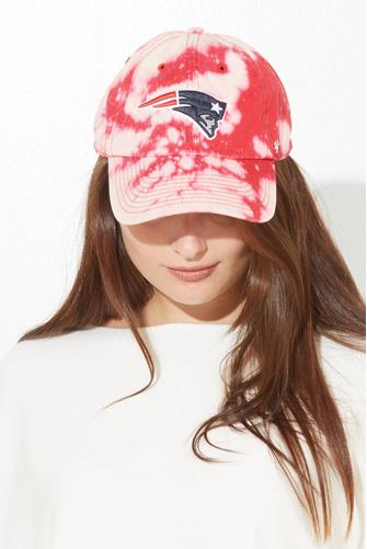 New England Patriots Tie Dye Baseball Hat RED