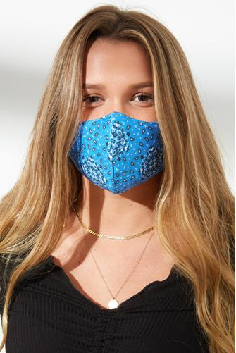 PJ Salvage Paisley Face Mask BLUE
