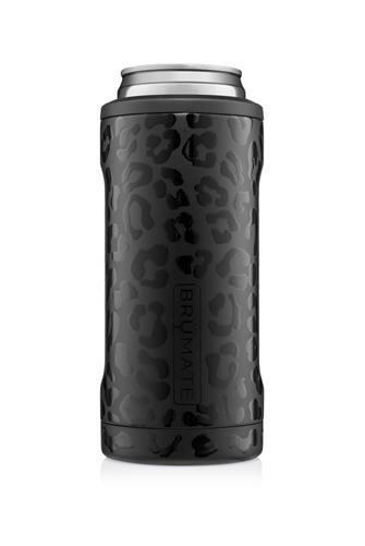 Onyx Leopard Hopsulator Slim Can Cooler BLACK