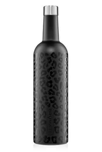 Onyx Leopard Winesulator Wine Canteen BLACK