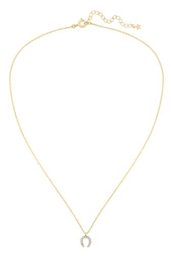 HAZEL NECKLACE-CLEAR GOLD