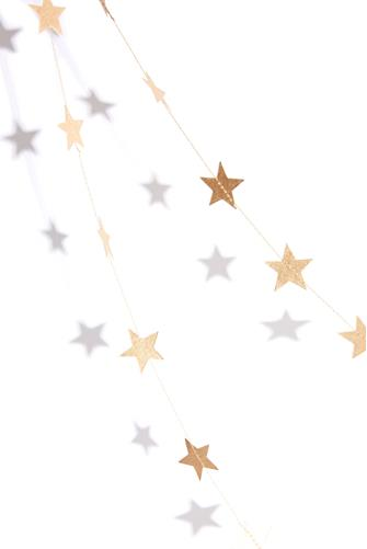 PAPER STAR GARLAND GOLD
