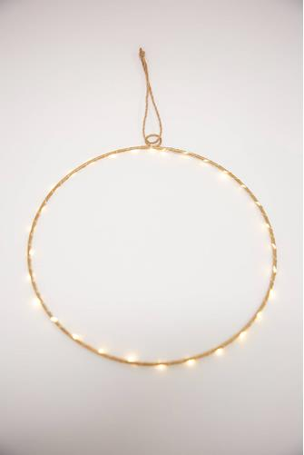LED Light Round Metal Ring GOLD