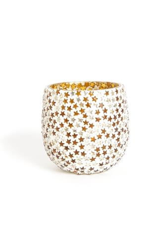 STAR MOSAIC VOTIVE HOLDER GOLD