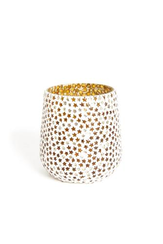 STAR MOSAIC TEALIGHT HOLDER GOLD