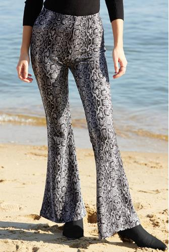 Snake Print Fit & Flare Pant GREY MULTI -