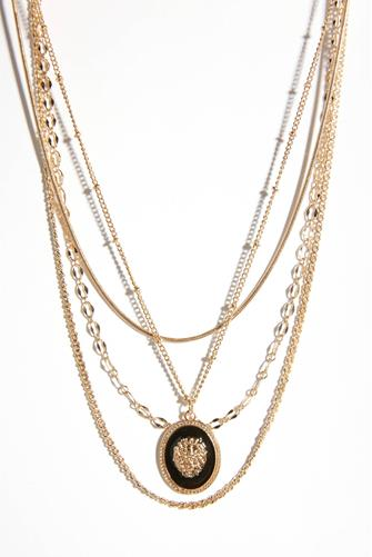 Gold Multi Chain Necklace GOLD