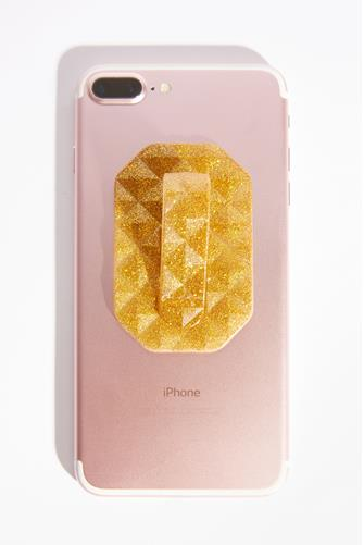 Geo Gold Diamond Glitter Phone Flipper GOLD