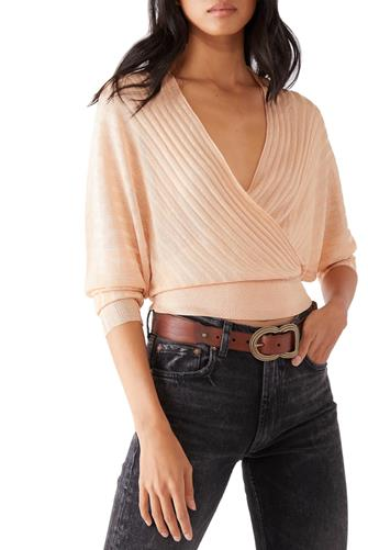 Pluto Wrap Sweater PINK