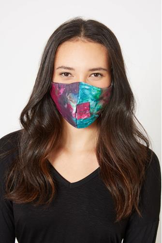 Tie Dye Happy Hour Straw Mask MULTI