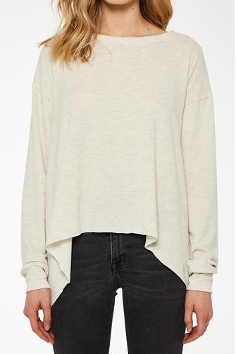 Cozy First Long Sleeve Crew Top OATMEAL