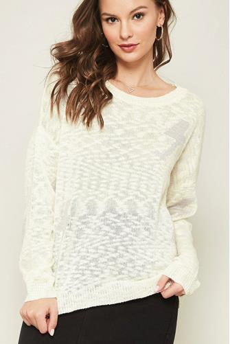 Lightning Bolt Sweater IVORY