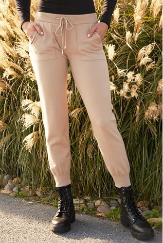Knit Solid Jogger TAUPE