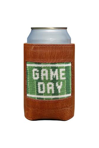 Game Day Needlepoint Can Cooler BROWN