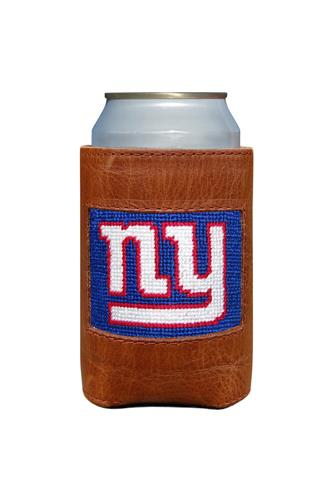 New York Giants Needlepoint Can Cooler BROWN