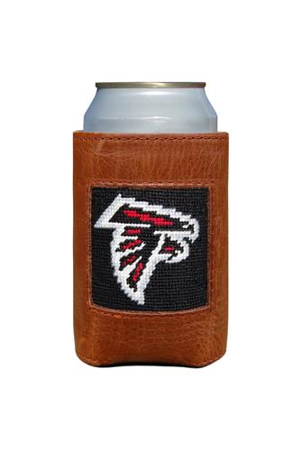 Atlanta Falcons Needlepoint Can Cooler BROWN