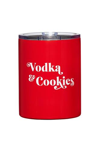 Vodka & Cookies Stainless Steel Tumbler RED