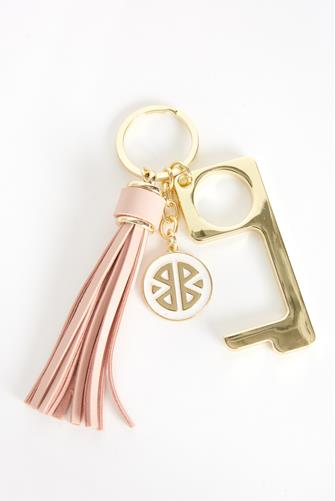 Light Pink Don't Touch That! Keychain LITE-PINK