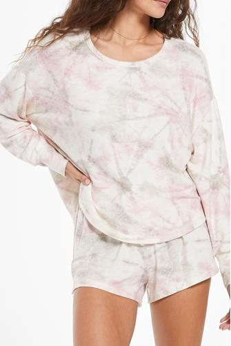 Sun Ray Tie Dye Top WHITE MULTI -