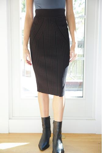 Jolie Knit Skirt BLACK