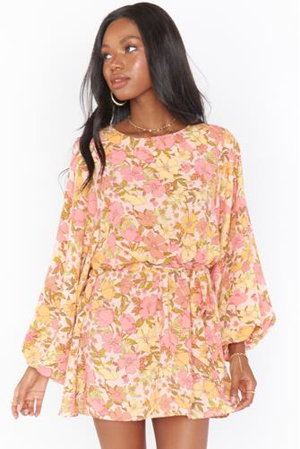 Pretty Poppy Larissa Dress PINK MULTI -
