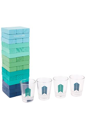 Jumbling Tower Shot Game BLUE-MULTI--