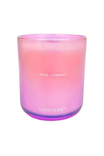 Pear + Ginger Double Wick Candle 12 oz. PINK-MULTI--