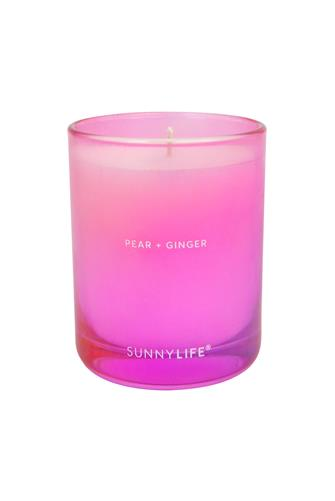 Pear + Ginger Candle 3.7 oz. PINK-MULTI--