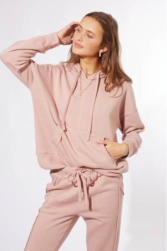 Cameo Rose Work It Out Hoodie MAUVE