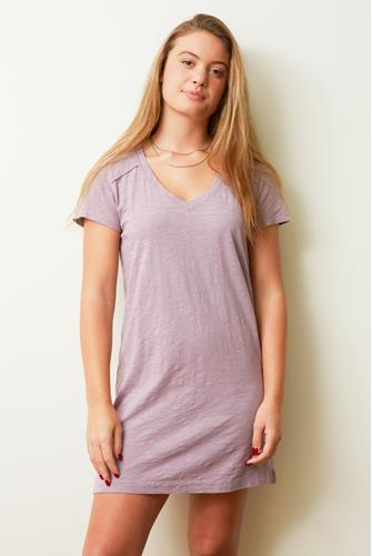 V-Neck Jersey T-Shirt Dress LILAC