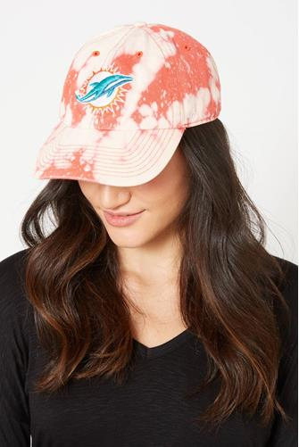 Miami Dolphins Tie Dye Baseball Hat RED