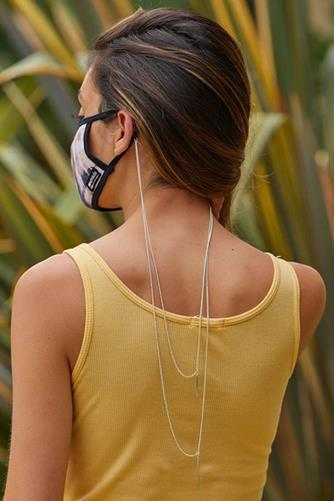 Bar Double Layer Mask Chain SILVER