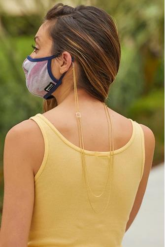 Box Double Layer Mask Chain GOLD