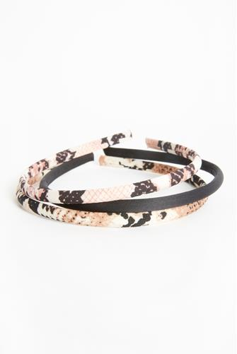 Animal Print Headband Three Pack MULTI