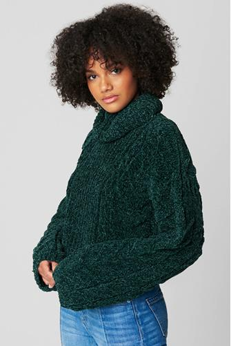 Green Thumb Turtleneck Sweater FOREST-GRN