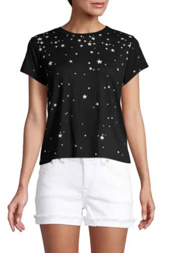 All Over Star Graphic Tee BLACK