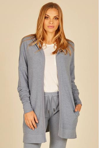 Hacci Side Rib Cardigan LITE-BLUE