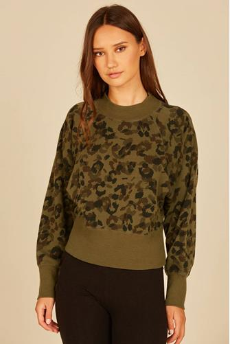 Camo Burnout Velvet Top CAMO