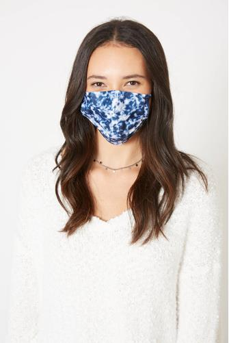 Tie Dye Disposable Face Mask Five Pack BLUE-MULTI--
