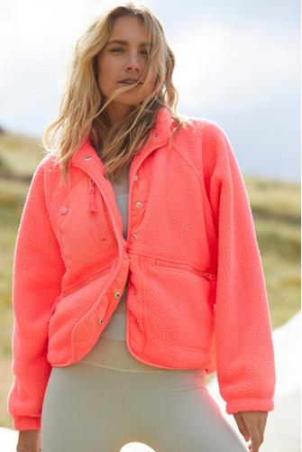 Neon Coral Hit The Slopes Jacket CORAL