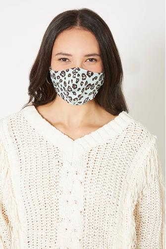 Cheetah Print Face Mask MINT-GREEN