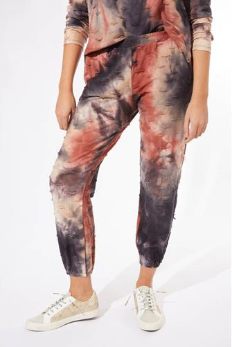 Ink & Rust Tie Dye Jogger MULTI