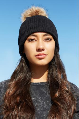 Face Covering Beanie BLACK